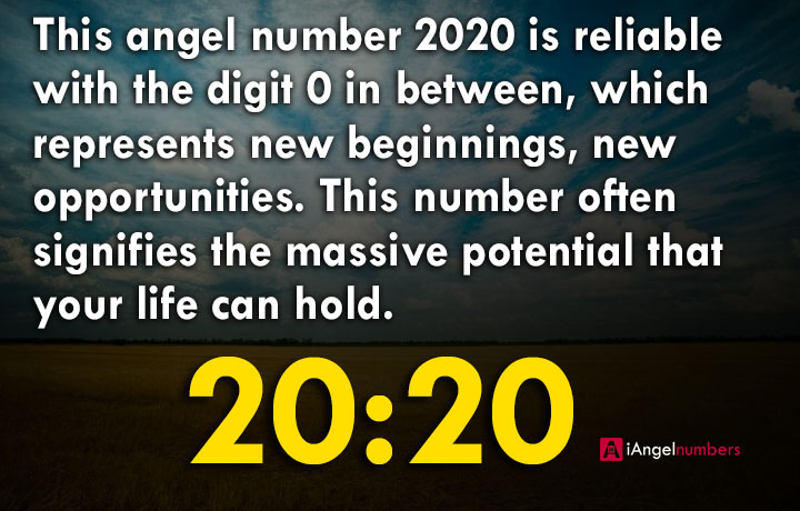 Angel Number 2020 Meaning @iangelnumbers
