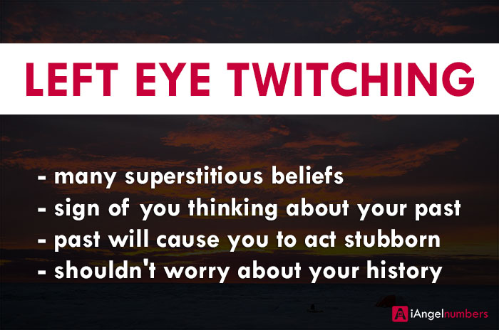 Left Eye Twitching Biblical & Spiritual Meaning, Superstition